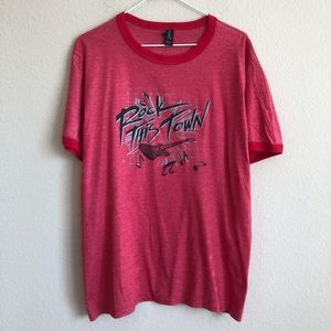 Vintage Rock This Town Iron-On T-Shirt NWT